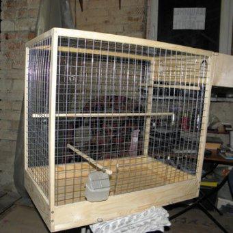 Как сделать клетку для попугая проще всего